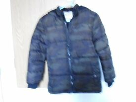 Boys padded coat with hood,
