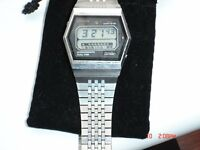 vintage digital watch stainless steel 60/70,s citizen chronograph