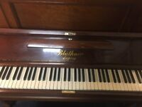 Bluthner Upright Piano, reconditioned, beautiful example, circa 1913, serial no. 90521