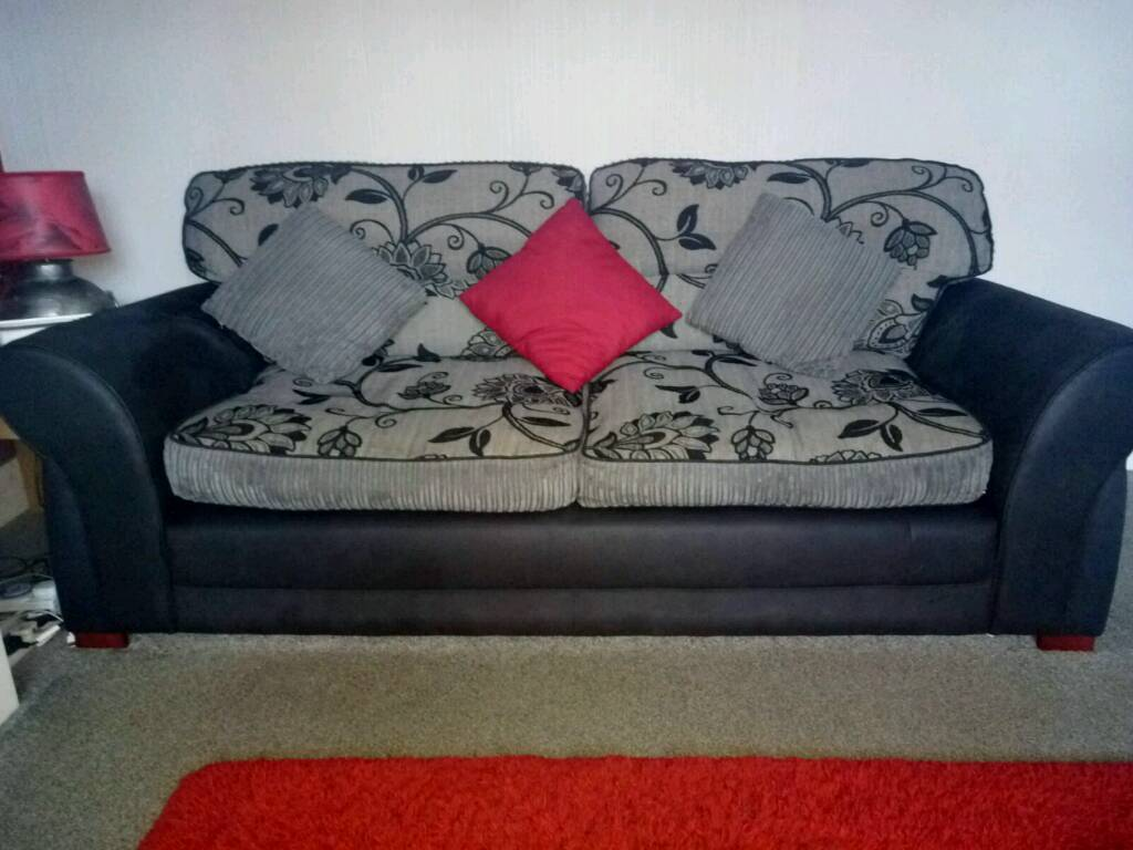 3 & 2 seater sofas with reversible cushions.