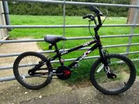Black and Red Alley Cat bicycle - Age 6-9