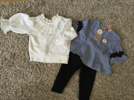X2 Girls outfits bought from River Island - size 3-6 months