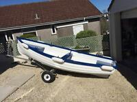 Boat,6hp outboard with trailer