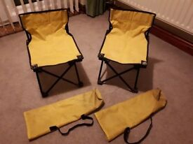 CHILDREN'S FOLD UP PICNIC CHAIRS