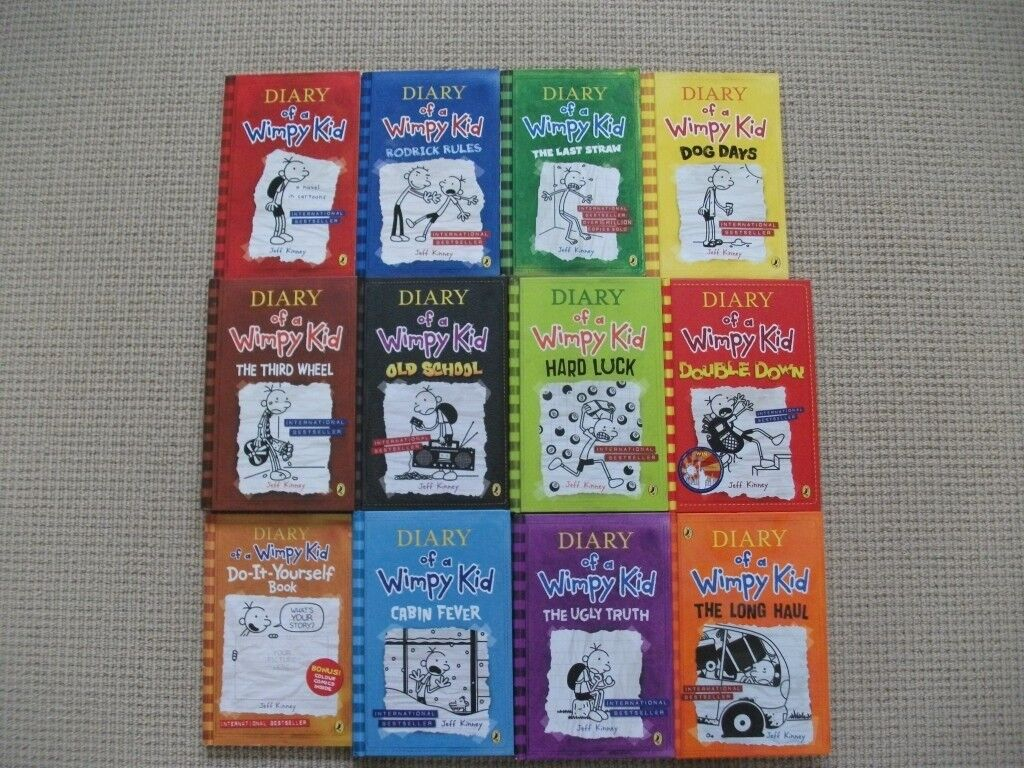 Diary of a wimpy kid books x 12 7 hardback5 paperback in diary of a wimpy kid books x 12 7 hardback5 paperback solutioingenieria Image collections