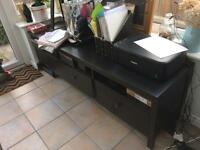 IKEA black sideboard with 3 draws. Good condition