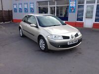 56 Renault Megane 1.4 Petrol, 3 door, 72,000 miles, We are open 7 days, Part ex welcome on all cars.