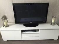 Used white high gloss tv unit from ikea (both units for sale)