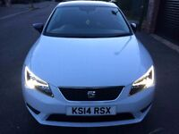 Seat Leon 2014 1.6 TDI ,Sport Coupe,Tech Pack, (start/stop) SAT NAV A/C FULL S/H