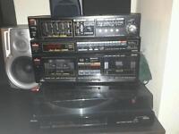 fischer amplifier, speakers, vinil full set