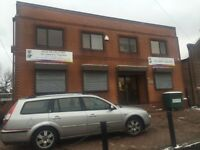 OFFICE BLOCK WITH PARKING 6 offices reception £500 per week