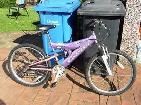 Girls Bike / Bicycle 18 gears, dual suspension