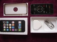 iphone 5s 16GB, Black & Silver colour, FACTORY UNLOCKED, PHONE CHARGER & DATA/CHARGER LEAD BOX