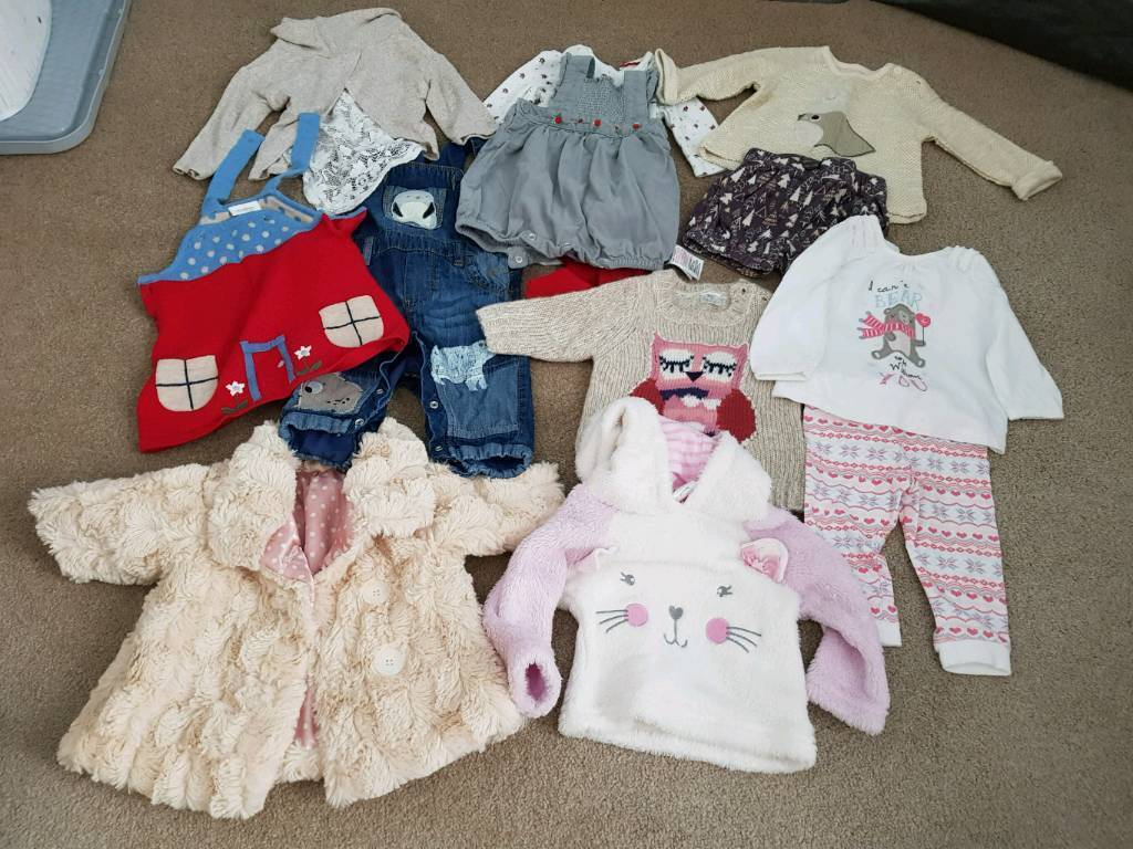 aeef52c0e643 Job lot of baby girl clothes 0-6m mainly 0-3m