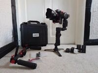 CAME TV Optimus Gimbal + Dual Handle + Remote + 2 Battery + Mini Tripod + Case