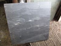 2ft by 2ft 20mm thick grey natural slate slab...riven! £10 only