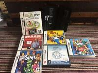 Nintendo Ds bundle of games and case with 2 stylus