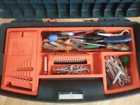 MASSIVE TOOL BOX with loads of tools worth over £200 selling only for £40