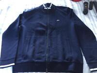 Real Lacoste navy zipper