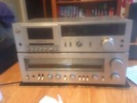 Technics Sterio Receiver and Cassette Unit