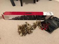 4foot Faux Christmas Tress + Decorations