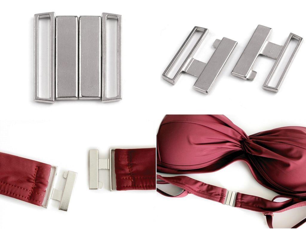 1 Bikini Verschluss 25mm aus Metall Bikiniverschluss Bademode BH Haken