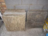 12 Paving Slabs (60cm x 60cm) + sand and ballast