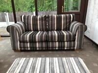 Next® Cost £900 2 Seater Sofa Black & Grey Stripes Good Condition