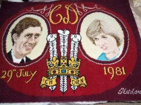 Charles and Diana rug to celebrate their wedding in 1981.