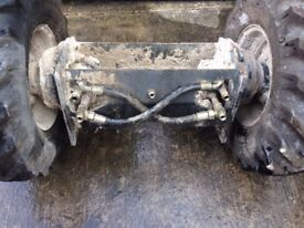 Hydraulic front axle and wheels for Terex HD 1000