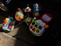 Kids toys bundle + lindam bouncer and baby bath seat