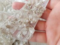 Wedding Dress shoulder straps brand new VINTAGE WITH SWAVORSKI CRYSTALS. 100.00