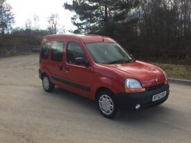 2002 DIESEL WHEELCHAIR ACCESS RENAULT KANGOO DISABLED RAMP SCOOTER 38,000 MILES £2695 O-N-O