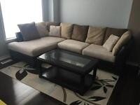 Sectional Couch and Chair for Sale