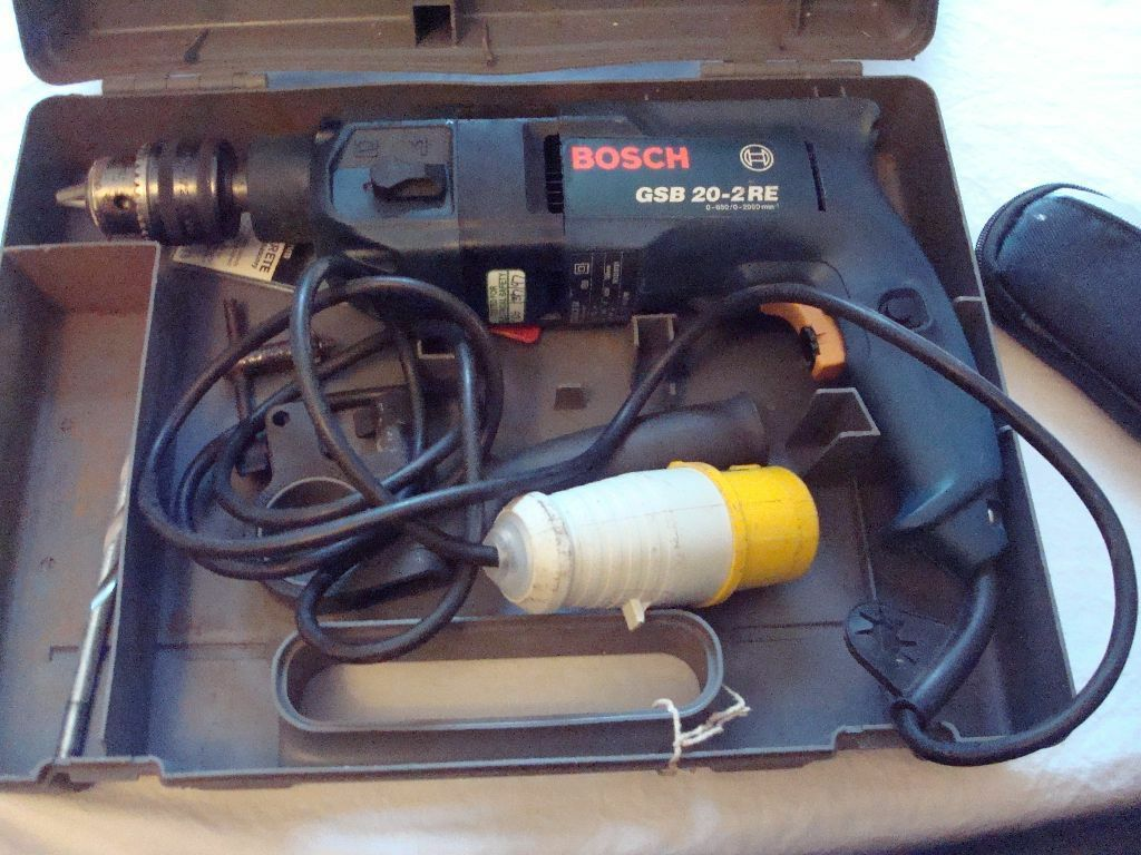 110 volt bosch drill gsb 20 2re with transformer and cable. Black Bedroom Furniture Sets. Home Design Ideas