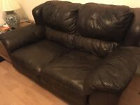 Italian soft leather sofa/couch