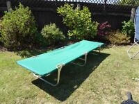 Light weight folding camp bed.