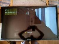 "Sony brava 40"" flat screen tv/monitor"