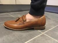 Tan Next Mens Tassel Loafers. Size 8 And Size 10