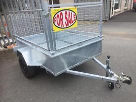 Car trailer 6x4 fully welded single axle trailer very strong