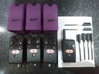 3 x Delkim Txi Plus Alarms with purple covers and Extras