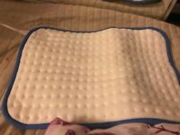 Electric heat pad used