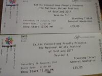Two tickets for The National Whisky Festival, 28th January, 12:00PM, SWG3, £35 each OBO