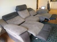 3 SEATER RECLINING SOFA AS NEW