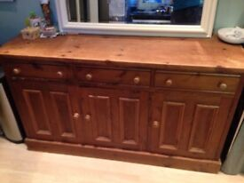 Large wooden chest of drawers (base of dresser)