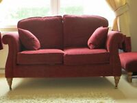 1 x 2 Seater Sofa with matching footstool for sale