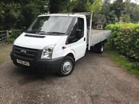 Ford transit T350 115bhp 6 speed 12ft drop side alloy body mint condition