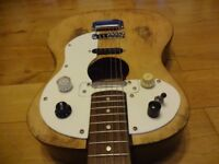 """""""Custom Vintage Dog, 50's Parlor Body Acoustic With Fender Replacement Hardware"""""""