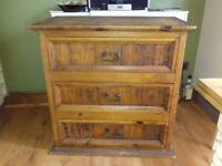 Set of solid wood drawers