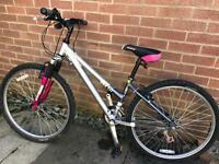 4 x Bikes / bicycles, inc 2 Raleigh. 1 Men's, 1 Ladies, 2 girls / child size, some tlc required